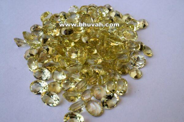 Lemon Quartz 9x7mm Oval Shape Faceted Cut Stone Gemstone Price Per Carat