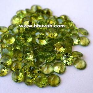 Peridot 7mm Round Shape Faceted Cut Stone Gemstone Price Per Carat