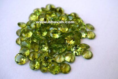Peridot 7mm Round Shape Faceted Cut Stone Gemstone Price Per Carat