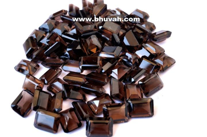 Smoky Quartz 9x7mm Octagon Shape Faceted Cut Stone Gemstone Price Per Carat