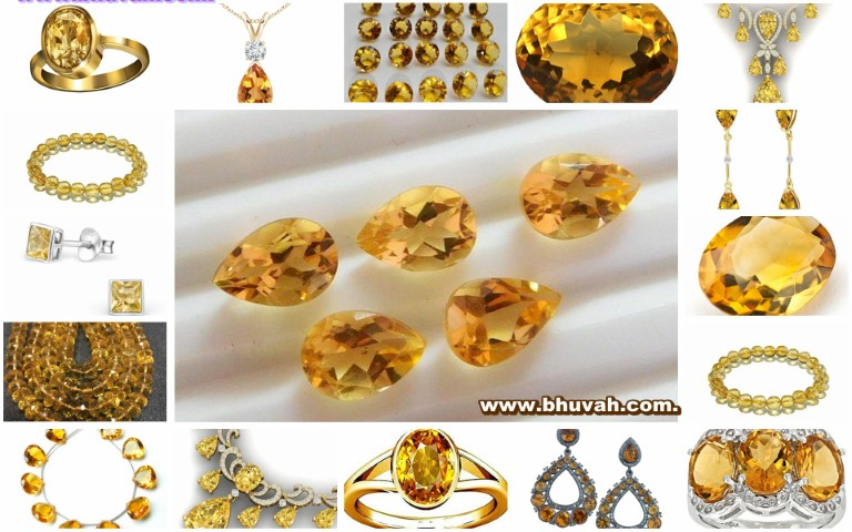 Citrine in Hindi
