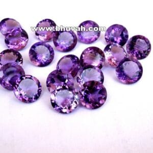 Amethyst 12mm Round Faceted Cut Stone Gemstone Price Per Carat