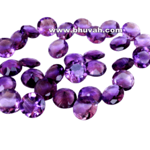 Amethyst 12mm Round Faceted Cut Stone Gemstone Price Per Piece