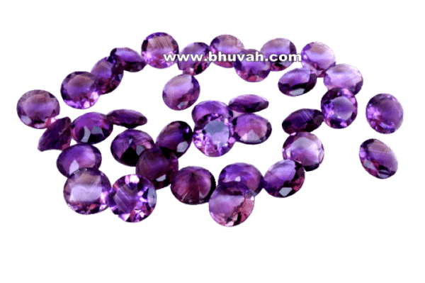 Amethyst 12mm Round Faceted Cut Stone Gemstone Price Per Piece