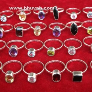 Natural Faceted Stone Gemstone Mix Ring Wholesale Lot