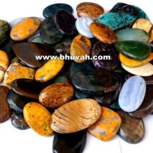 Natural Gemstone Cabochon Stone Mix 1 kg Wholesale Lot With Hole