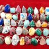 Natural Stone Gemstone Cabochon Mix Ring Wholesale Lot